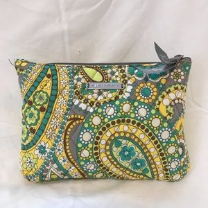 Vera Bradley Lemon Parfait cosmetic zipper pouch